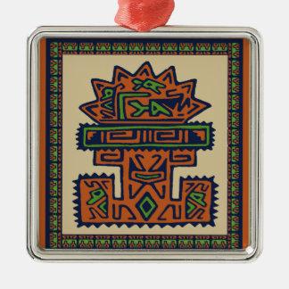 Antigua Argentina Silver-Colored Square Decoration