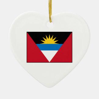 Antigua & Barbuda Flag Ceramic Heart Decoration