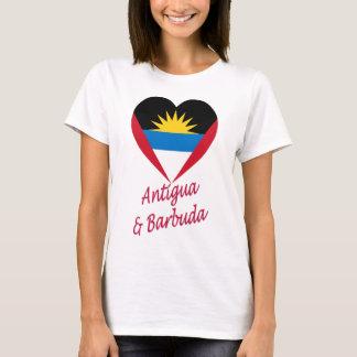 Antigua & Barbuda Flag Heart T-Shirt