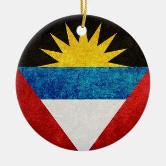 Antigua & Barbuda Flag Round Ceramic Decoration