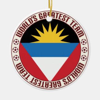 Antigua Barbuda Greatest Team Round Ceramic Decoration