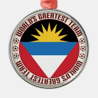 Antigua Barbuda Greatest Team Silver-Colored Round Decoration