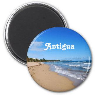 Antigua Beach 6 Cm Round Magnet