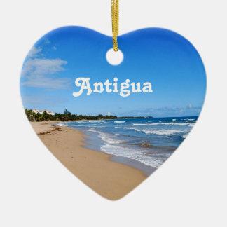 Antigua Beach Ceramic Heart Decoration