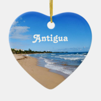 Antigua Beach Christmas Ornament
