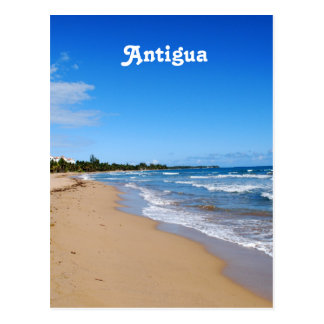 Antigua Beach Postcard
