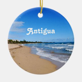 Antigua Beach Round Ceramic Decoration