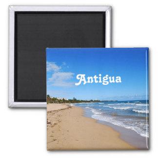 Antigua Beach Square Magnet