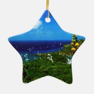Antigua Caribbean Island Ceramic Star Decoration