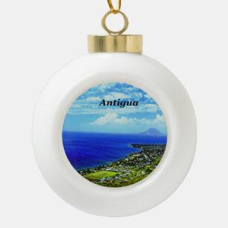 Antigua Ceramic Ball Christmas Ornament