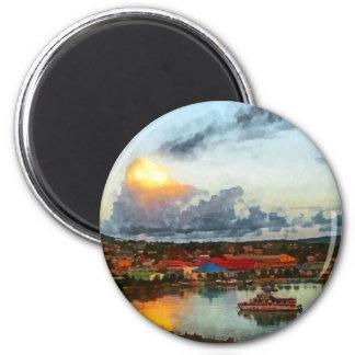 Antigua Evening 6 Cm Round Magnet