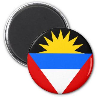 Antigua Flag 6 Cm Round Magnet