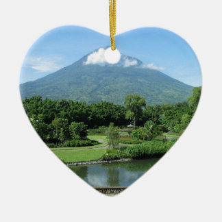 Antigua Guatemala Ceramic Heart Decoration