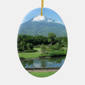 Antigua Guatemala Ceramic Oval Decoration
