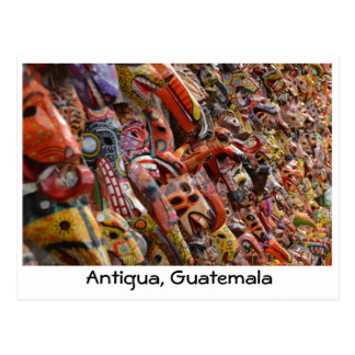 Antigua, Guatemala Wooden Masks Postcard