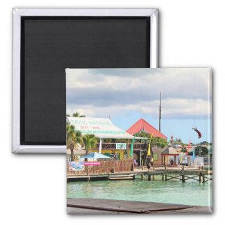 Antigua, Island in the Caribbean Square Magnet