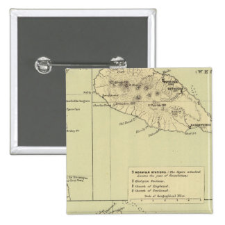 Antigua Lithographed Map 15 Cm Square Badge