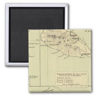 Antigua Lithographed Map Square Magnet