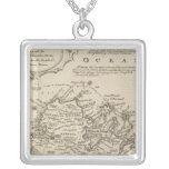 Antigua or Antego Square Pendant Necklace