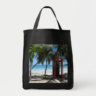 Antigua Red Phone Box HFPHOT13 Grocery Tote Bag