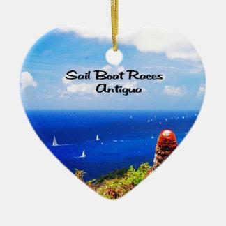 Antigua Sailboat races Ceramic Heart Decoration