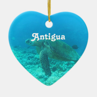 Antigua Scuba Diving Ceramic Heart Decoration