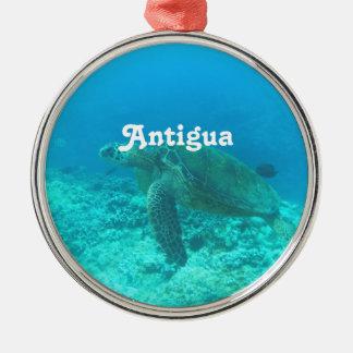 Antigua Scuba Diving Silver-Colored Round Decoration