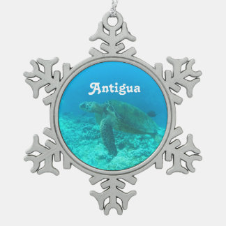Antigua Scuba Diving Pewter Snowflake Decoration