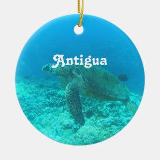 Antigua Scuba Diving Round Ceramic Decoration