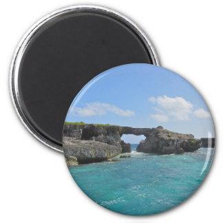 antigua sea 6 cm round magnet