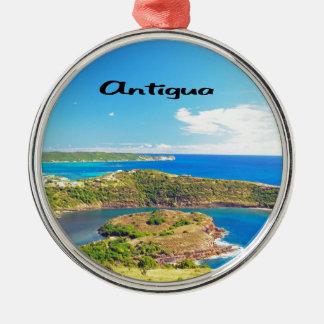 Antigua Silver-Colored Round Decoration