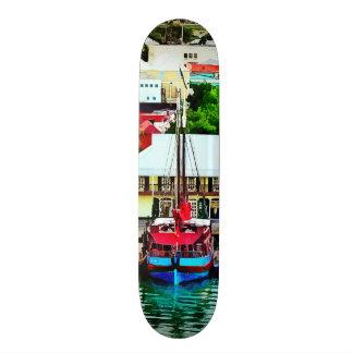 Antigua - St. Johns Harbor Early Morning Skate Board Decks