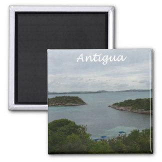 Antigua View Square Magnet