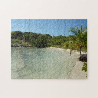 Antiguan Beach Beautiful Tropical Landscape Jigsaw Puzzle