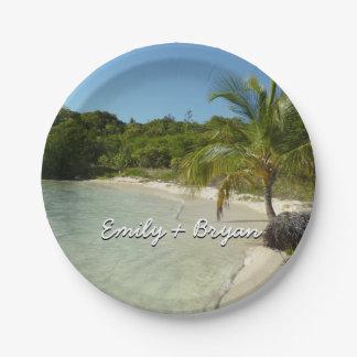 Antiguan Beach Beautiful Tropical Landscape Paper Plate