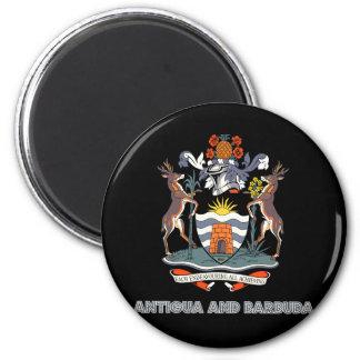 Antiguan Emblem 6 Cm Round Magnet