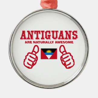 Antigua's are naturally awesome Silver-Colored round ornament