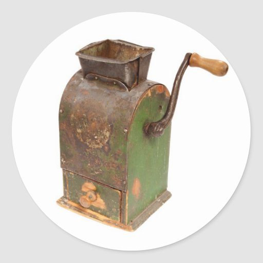 Antigue coffee mill sticker