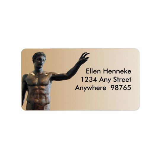 Antikythera Statue Address Label