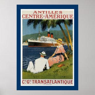 Antilles Centre Amerique Poster