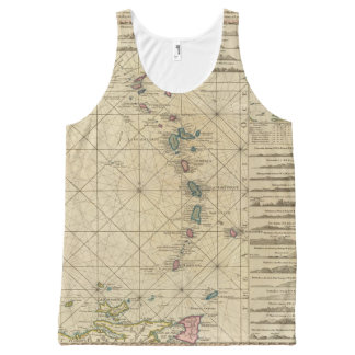 Antilles, Charibbee Islands All-Over Print Tank Top