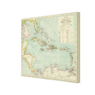 Antilles or West Indies Canvas Print
