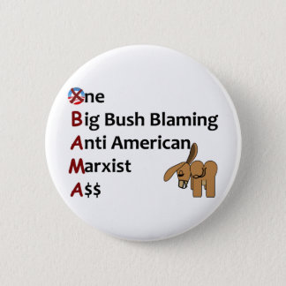 AntiObama 6 Cm Round Badge