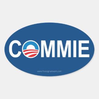 Antiobama Commie Oval Sticker