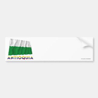 Antioquia Waving Flag with Name Bumper Sticker