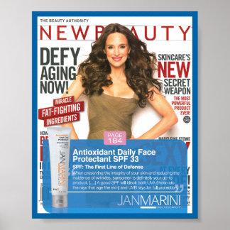 """Antioxidant DFP - NewBeauty 8x10"""" Poster"""