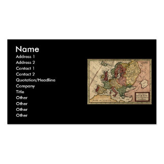Antiquarian 1721 Map of Europe by Herman Moll Double-Sided Standard Business Cards (Pack Of 100)