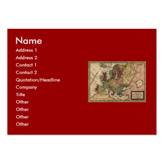 Antiquarian 1721 Map of Europe by Herman Moll Large Business Cards (Pack Of 100)