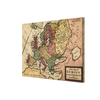 Antiquarian 1721 Map of Europe by Herman Moll Gallery Wrap Canvas