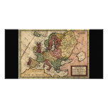 Antiquarian 1721 Map of Europe by Herman Moll Photo Card Template